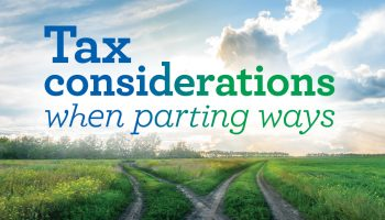 Tax considerations when parting ways