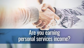 Are you earning personal services income?
